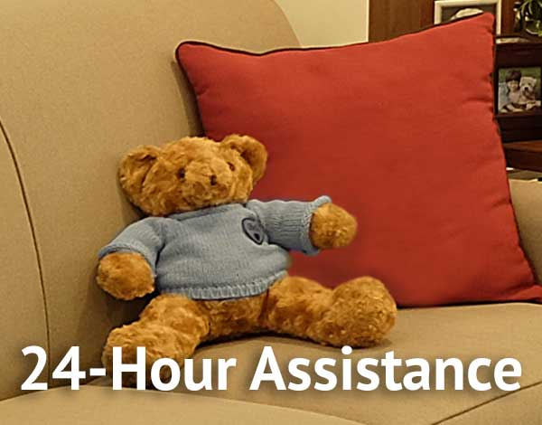 24-hour assistance